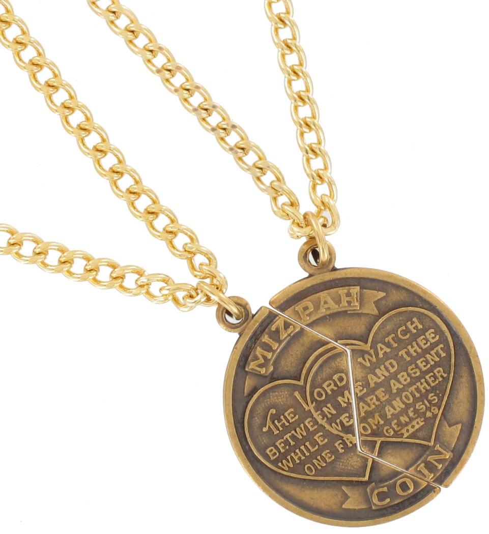 Necklace bff set new mizpah coin best friends genesis pendant gold necklace bff set new mizpah coin best friends genesis pendant gold tone thumbnail 3 aloadofball Choice Image