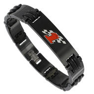 Rochet Mens Moto GO World Championship Black Magnum Bracelet Stainless Steel Number 1