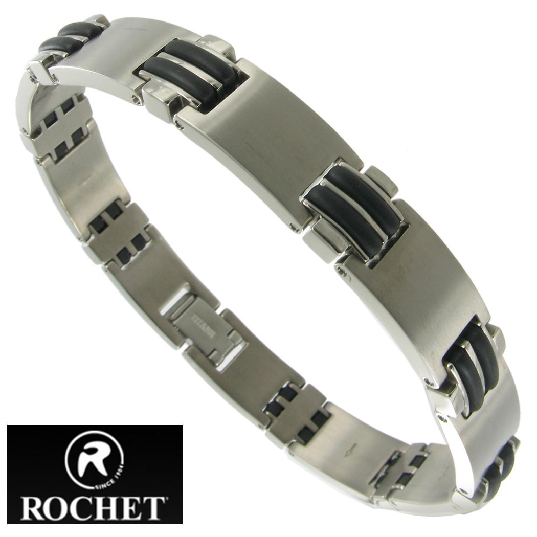 Stainless Steel Bracelet Charms: Rochet Mens Stainless Steel Bracelet