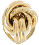Scarf Clip Ring Vintage Large Gold Tone Knot Signed Rr