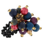 Large Beaded Multicolor Statement Stretch Ring One Size