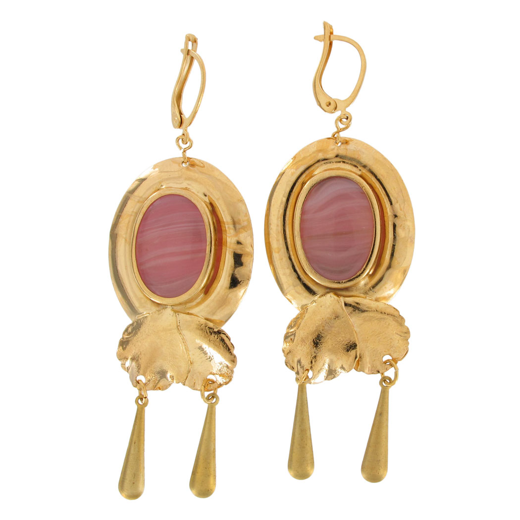 what are leverback earrings vintage leverback italy pink cabochon dangle clip on 8207