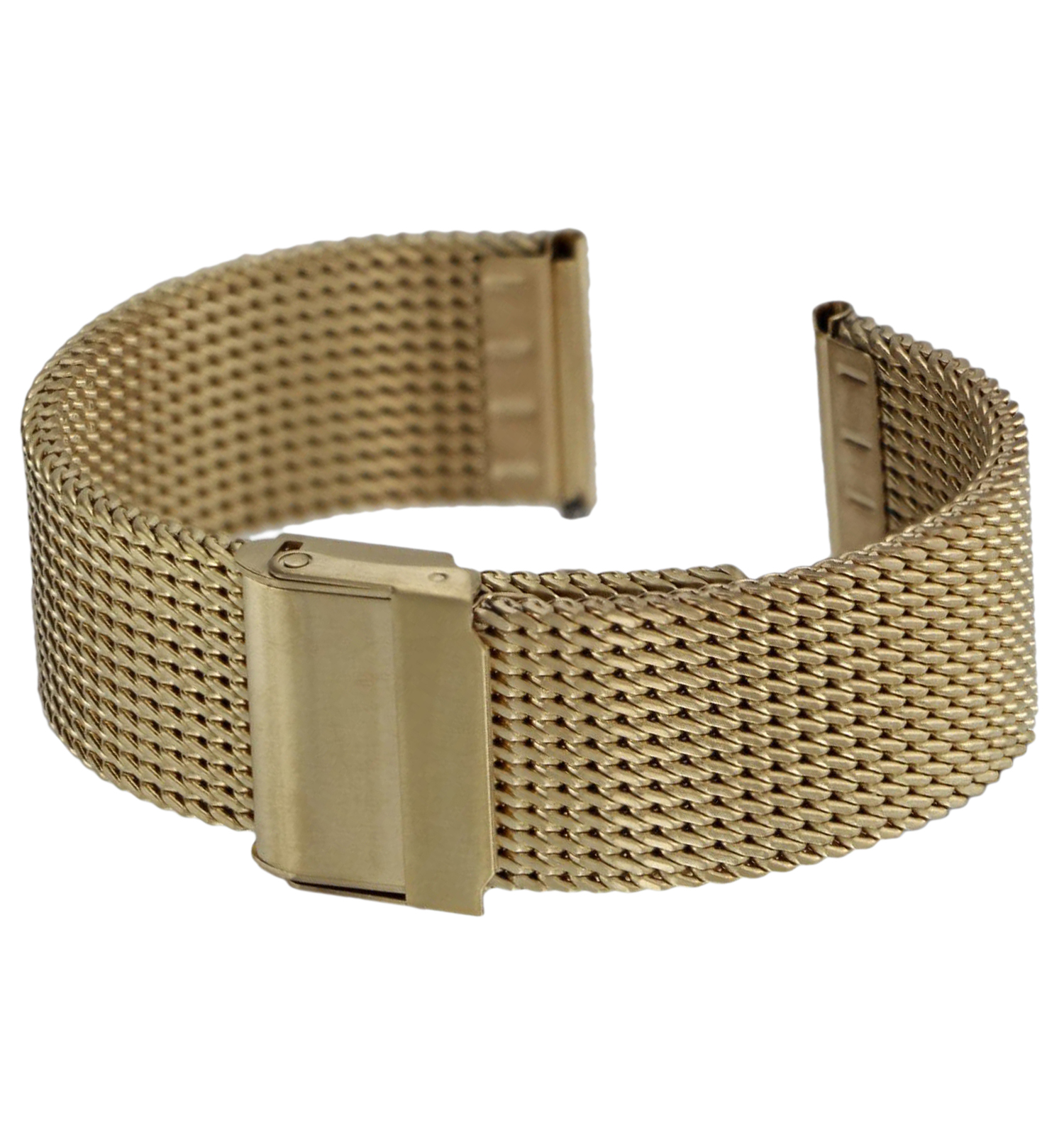 Hadley Roma MB3835Y 20mm Gold Tone Thick Mesh Straight End Bracelet Watch Band