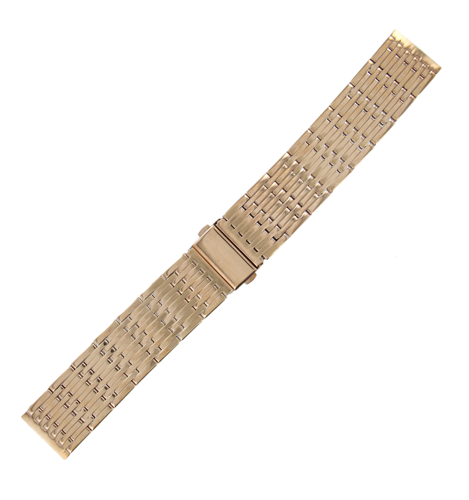 Hadley-Roma MB9274R 24mm Mens Watch Band Rose Gold Tone Wide Link
