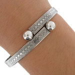 Wesley Antiqued Silver Tone Wrap Bangle Bracelet USA Made Thumbnail 3