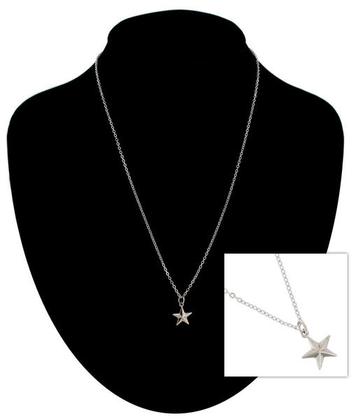 Ky & Co Pendant Necklace Star Nautical Star Symbol Silver Tone Charm USA Made