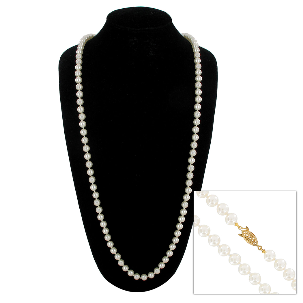 Faux Pearl Necklace | 3699-2 | Necklace | ajraefields