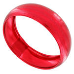 Ky & Co Bracelet Bangle Jewel Tone Metal Wide Statement Ruby Red Metallic