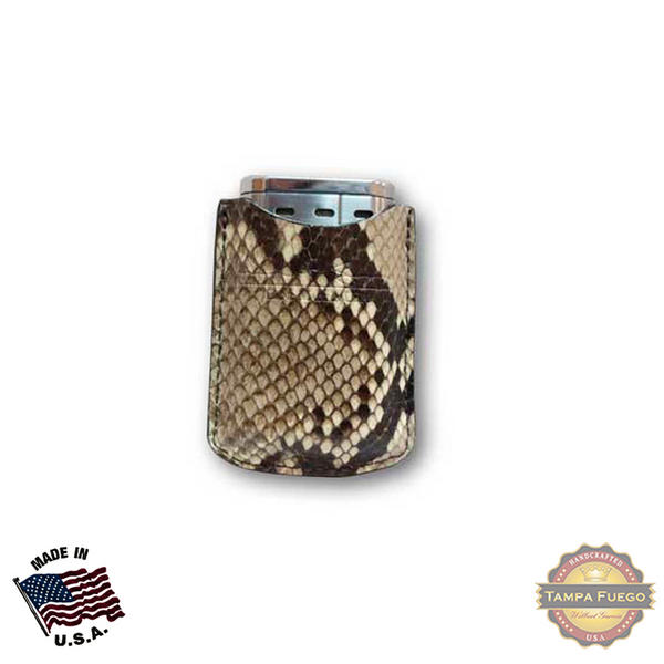 Tampa Fuego Natural Cigar Lighter Case Python Fits Xikar Father's Day