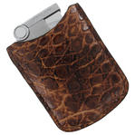 Tampa Fuego Natural Cigar Lighter Case Crocodile Vintage Fits Xikar Father's Day Thumbnail 2