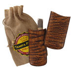 Tampa Fuego Brown Cigar Case Genuine Vintage Crocodile Father's Day Thumbnail 2