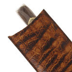 Tampa Fuego Brown Cigar Case Genuine Vintage Crocodile Father's Day Thumbnail 5