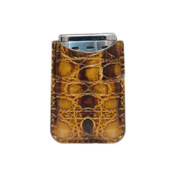 Tampa Fuego Brown Cigar Lighter Case Vintage Crocodile Fits Xikar Father's Day