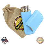 Tampa Fuego Cigar Case Genuine Leather Pale Blue Lined Standard Father's Day Thumbnail 1