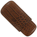 Tampa Fuego Cigar Case Crocodile Grain Leather Cognac Standard Father's Day Thumbnail 4