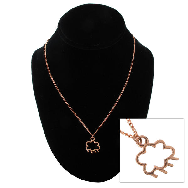 "Ky & Co Rose Gold Tone Rain Cloud Small Pendant Charm 18"" Curb Chain Necklace"