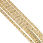 "Ky & Co Five Strand Herringbone Chain Necklace Gold Tone 24"" USA Made Thumbnail 2"