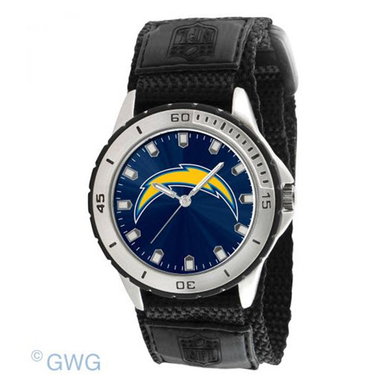 San Diego Chargers Game Time: San Diego Chargers Game Time NFL Veteran Black Nylon Men's