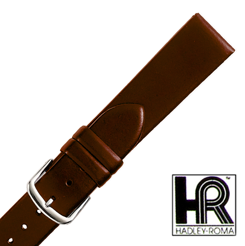 Hadley Roma MS780 18mm Regular Brown Oil Tan Leather Men's Watch Band Strap SPO