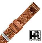 Hadley Roma MS868 22mm Brown Gen Leather & Canvas Stitched Men's Watch Band SPO