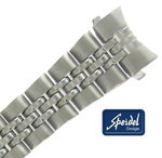 "Speidel 13mm Bracelet Watch Band Silver Tone #16 Curved End 6 3/4"" Ladies"