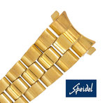 Speidel 13-14mm Ladies Yellow Gold Straight or Curved End Bracelet Watch Band