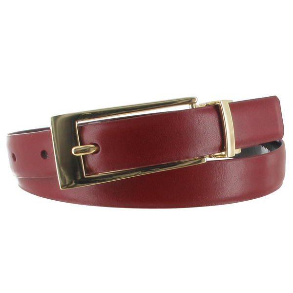 WCM Red Leather Reversible Black Patent Ladies Belt Size Small