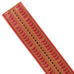 Nanette Lepore Wide Tribal Runway Belt Vachetta Tan Red Black Size Medium Thumbnail 4