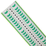 Nanette Lepore Wide Tribal Runway Belt Vachetta Green White Size Large Thumbnail 5