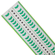 Nanette Lepore Wide Tribal Runway Belt Vachetta Green White Size Medium Thumbnail 5