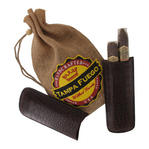 Tampa Fuego Cigar Case Crocodile Grain Leather Brown Two Finger Father's Day Thumbnail 2
