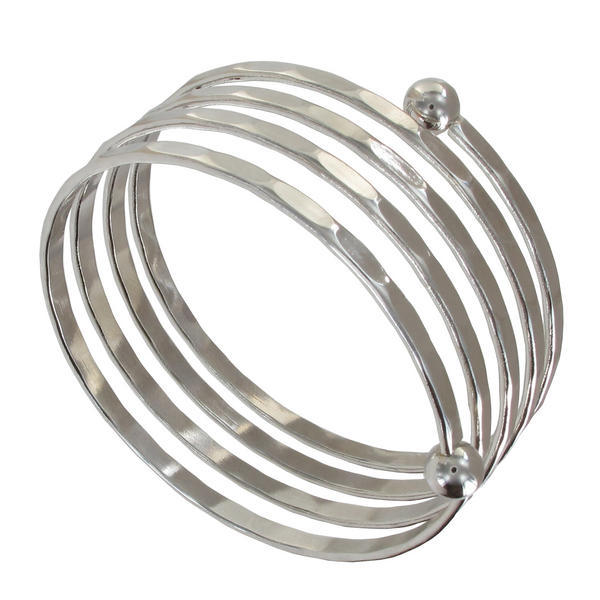 Ky & Co Children's Juniors Size Silver Tone Coil Spiral Bangle Bracelet USA Made