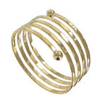Ky & Co Children's Juniors Size Coil Spiral Bangle Bracelet Gold Tone USA Made Thumbnail 1