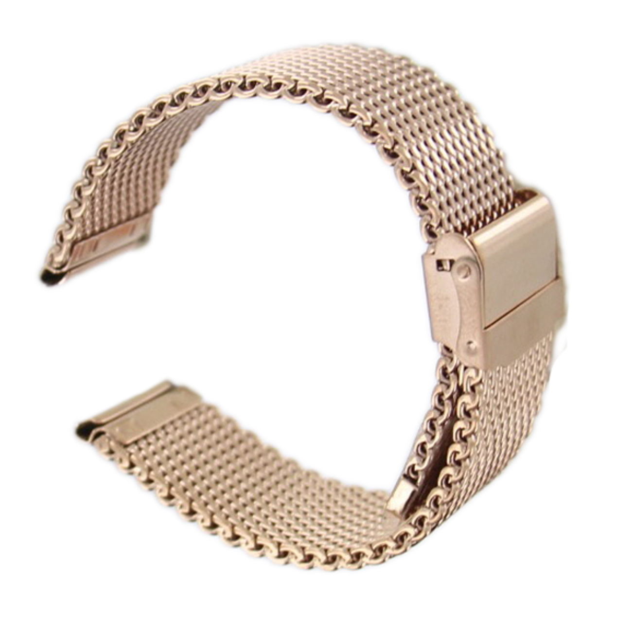 Hadley Roma MB3844R 22mm Rose Gold Tone Mens Thick Mesh Bracelet Bracelet Watch
