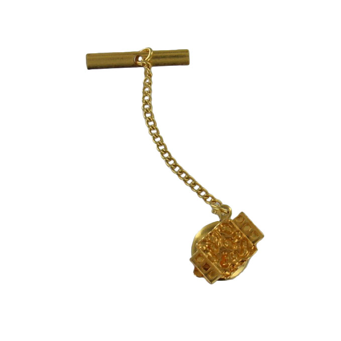 Men's Gold Tone Abstract Rectangle Tie Tac Tack Pin Gift Boxed Thumbnail 6