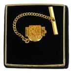 Men's Gold Tone Abstract Rectangle Tie Tac Tack Pin Gift Boxed Thumbnail 2