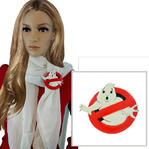 Ghostbusters Vintage Painted Wood Scarf Slide Clip Ring or T Shirt Tie 1980s
