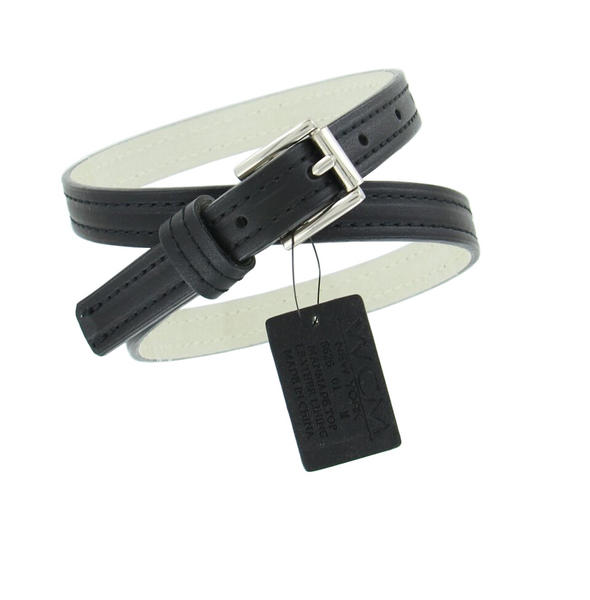 "WCM Black Ladies Skinny Belt 3/4"" Width Fits at 28""-32"" Medium M"