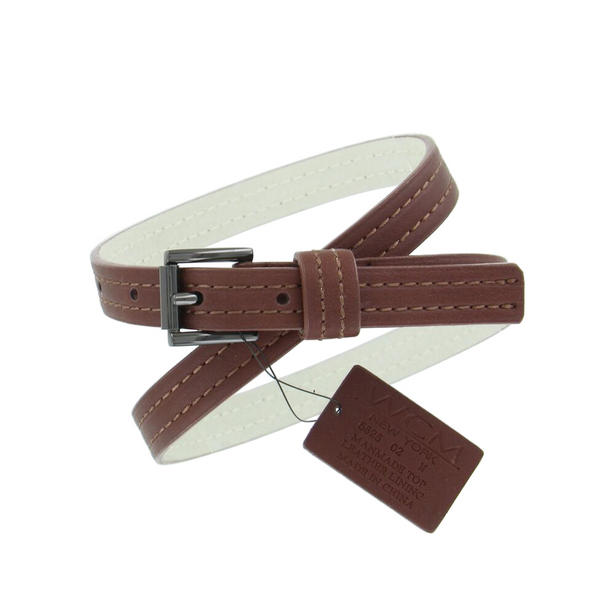 "WCM Brown Ladies Skinny Belt 3/4"" Width Fits at 28""-32"" Medium M"