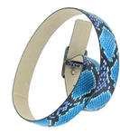 "Snazzy Snake Print Jean Belt Blue Purple Black Pink Fits 28-32"" S Thumbnail 6"