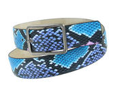 "Snazzy Snake Print Jean Belt Blue Purple Black Pink Fits 28-32"" S Thumbnail 4"