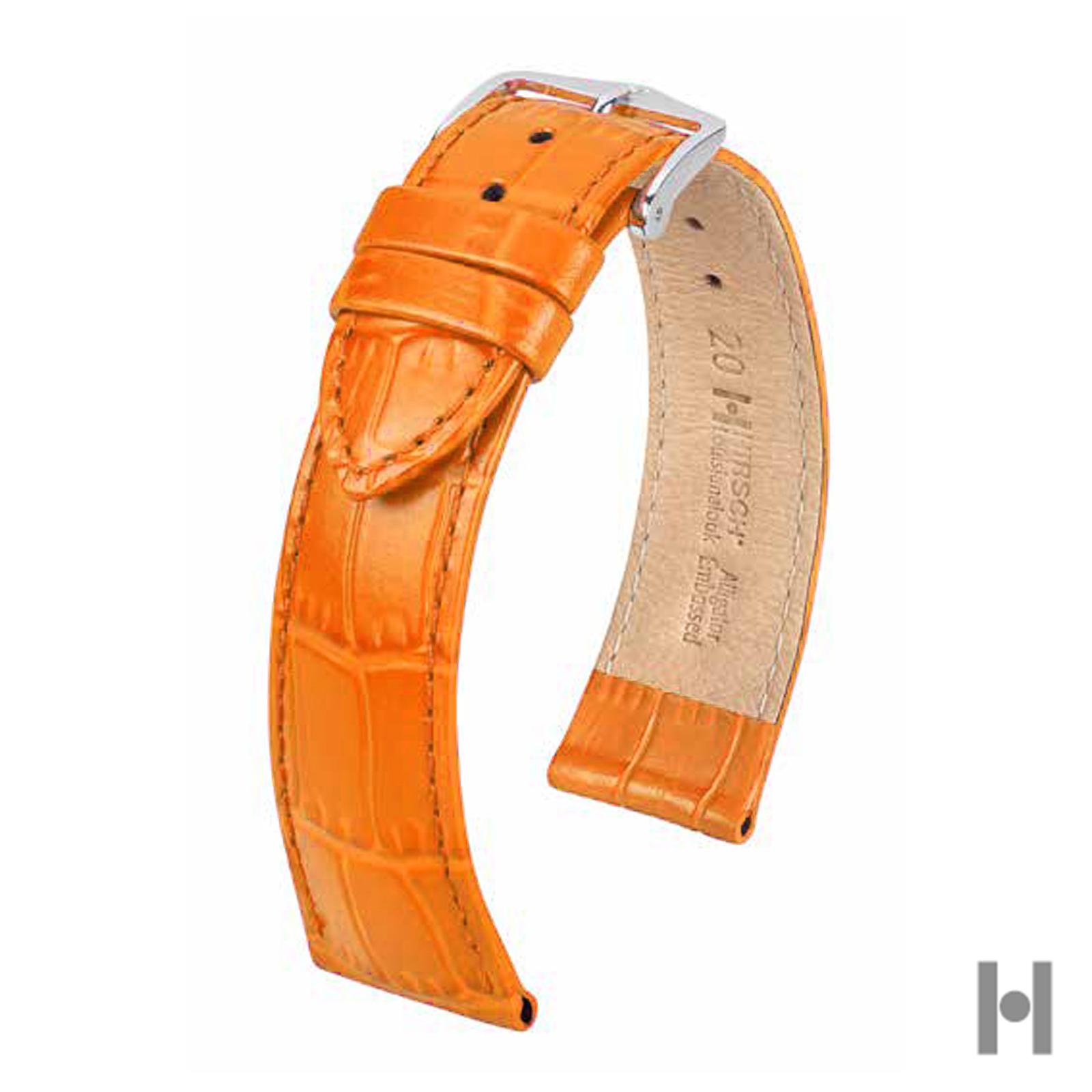dernière collection pas mal enfant Hirsch 20mm Orange Louisianalook Medium Alligator Grain Watch Strap Unisex  SPO