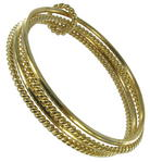 Thin Gold Tone Twist Set Of 4 Bangle Bracelet Thumbnail 2