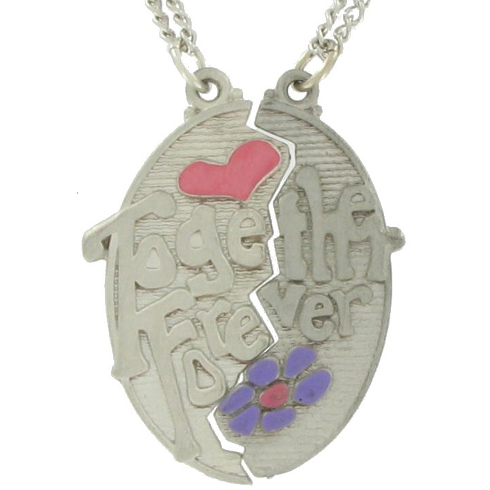 Pendant Bff Necklace Set Best Friends Together Forever