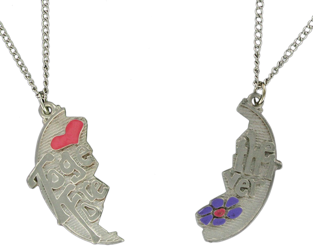 Pendant Bff Necklace Set Best Friends Together Forever Thumbnail 3