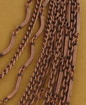 Ky & Co Copper Tone Multi Strand Layered Chain Link Bib Necklace USA Made Thumbnail 2