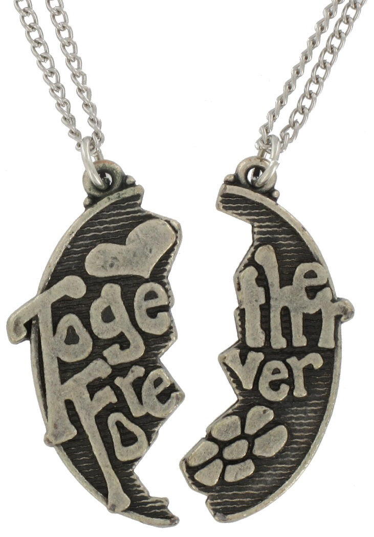 Pendant Bff Necklace Set Together Forever Silver Sp Best Friend Thumbnail 3