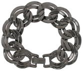 Ky & Co Gun Metal Gray Chunky Double Link Chain Bracelet Thumbnail 2