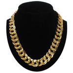 "Ky & Co Gold Tone 5/8"" Link Chunky Double Link Chain Necklace Made USA"