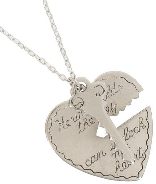 Ky & Co Pendant Key To My Heart Sweetheart Necklace Love Medium Silver Tone